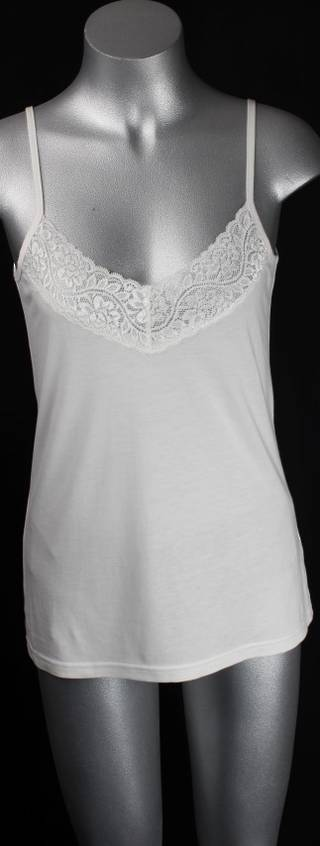 Bamboo cotton lace v-neck camisole top Style: AL/BAM/12