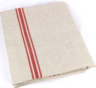 Marseille linen union table cloth 140x180cm red Code: TC-MAR/180/RED