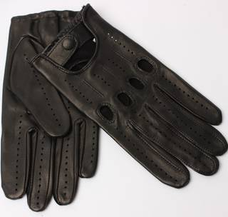 Mens Italian leather driving gloves black Style:S/ML2494