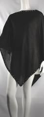 Alice & Lily plain poncho w beaded trim black Style: SC/4381BLK