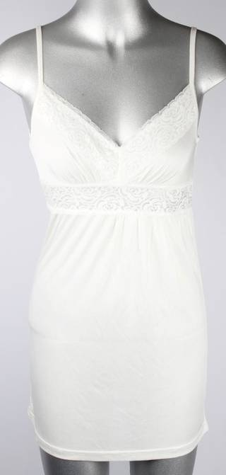 Silk shortie nightie with shaped lace trim V neck Style:AL/SILK/13