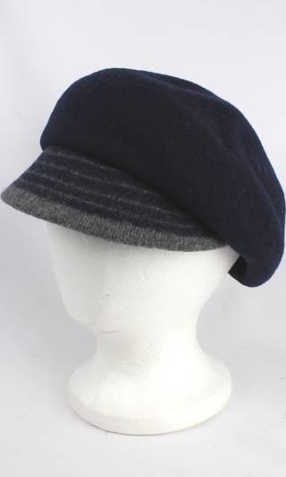 Headstart wool felt cap w 2 tone brim navy/light grey Style : HS/1412