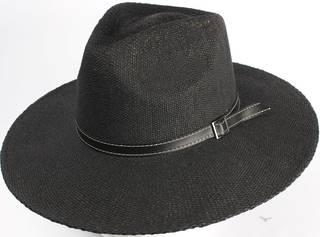 HEAD START Black fedora w black band and buckle  Style: HS/1417/BLACK