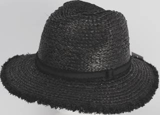 HEAD START Raffia trilby with black band and frayed brim edge Style: HS/1421/BLK