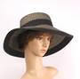HEAD START marled straw hat w blk  trim  nat/blk  Style: HS/14301NAT/BLK
