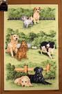 Samuel Lamont 'Dogs' tea towel Code : TT-153