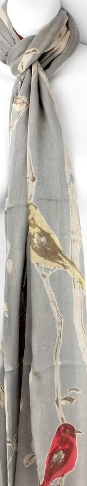 Alice & Lily printed scarf  bird grey Style: SC/SUM18/V10