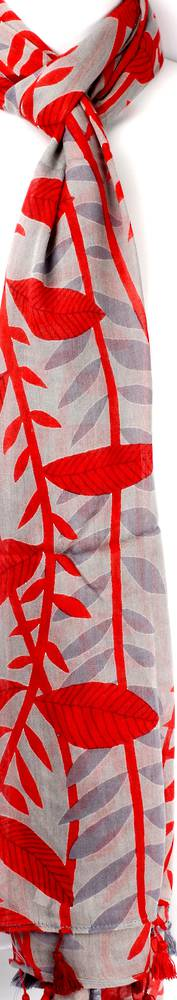 Alice & Lily printed scarf leaf red Style: SC/SUM18/V2