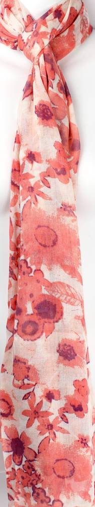 Alice & Lily printed scarf  flower bed red Style: SC/SUM18/V3