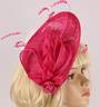 Head band sinamay  hatiinator w feathers hot pink STYLE: HS/3028 /HPNK