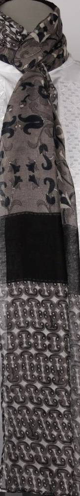 Printed  scarf black Style:SC/4205/BLK