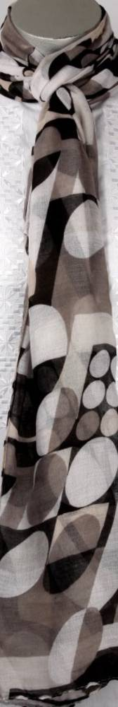Printed  scarf black Style:SC/4222/BLK