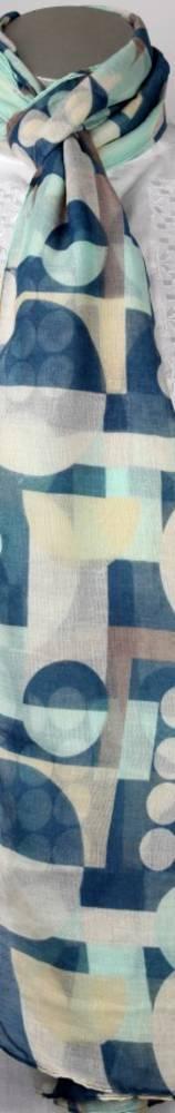 Printed  scarf blue Style:SC/4222/BLU