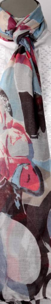Printed  scarf blue Style:SC/4223/BLU