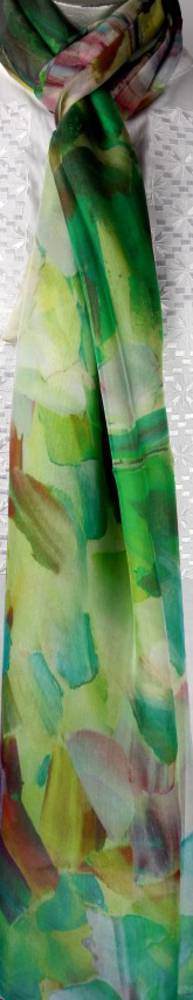 Spectacular pure silk chiffon scarf 100cmx200cm Style : SC/4242