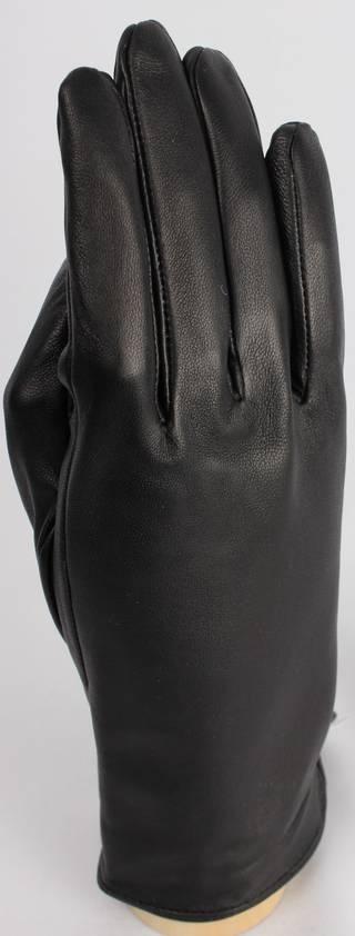 Genuine leather glove plain design, black, medium or large Code: S/LL4245