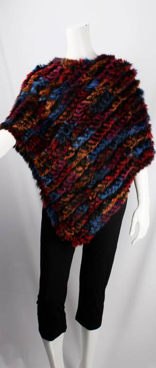 Alice & Lily fur poncho multi blue STYLE: SC/4254 BLUEMULTI