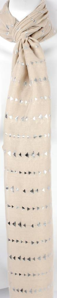 Printed foil scarf w gold arrow natural scarf Style:SC/4360/NAT