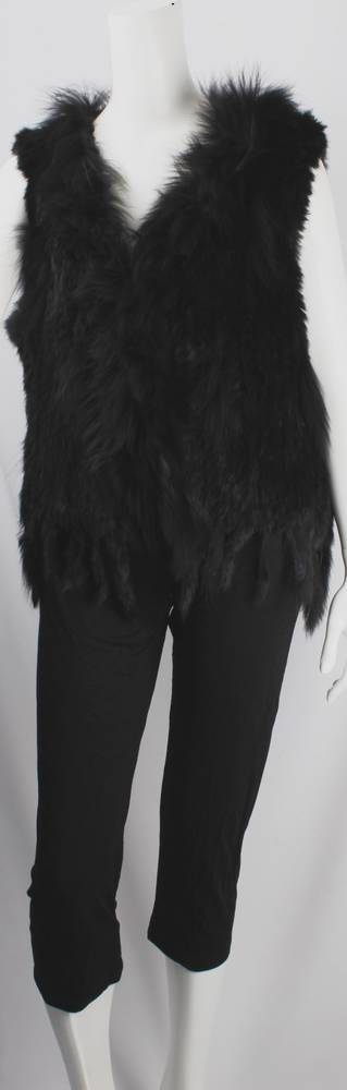 Alice & Lily fur vest plain black STYLE: SC/4374 BLK sold out for season