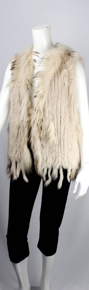 Alice & Lily fur vest cream STYLE: SC/4374CRM- SORRY SOLD OUT FOR SEASON