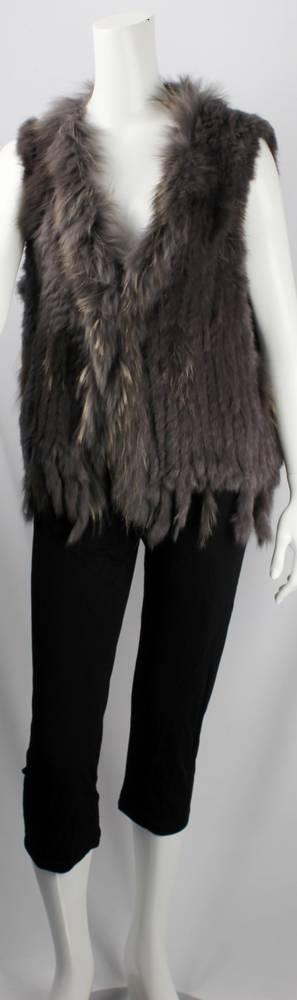 Alice & Lily fur vest plain grey STYLE: SC/4374 GRY