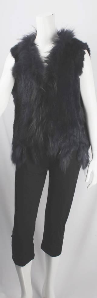 Alice & Lily fur vest plain navy STYLE: SC/4374 NVY