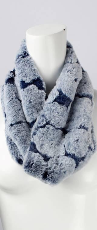 Faux fur flower snood blue Style: SC/4377