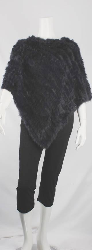 Alice & Lily fur poncho  navy STYLE: SC/4254 NAVY -STOCK AVAILABLE AGAIN