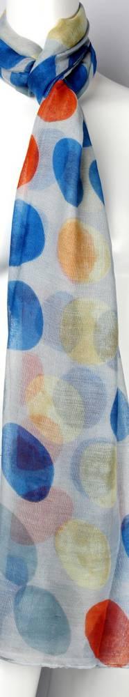 Printed  scarf blue Style:SC/4460/BLU