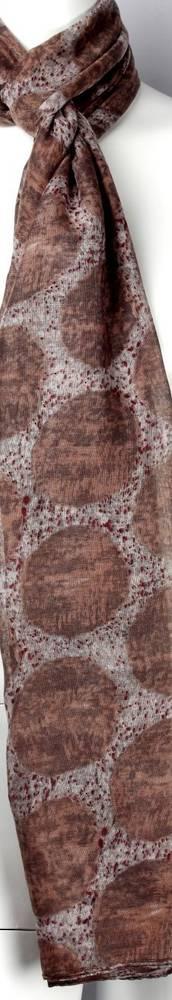 Printed  scarf brown Style:SC/4461/BRN