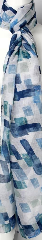 Printed  scarf blue Style:SC/4462/BLU