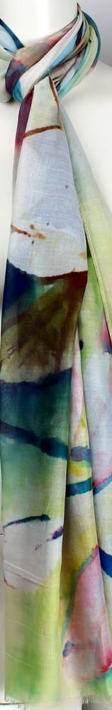 Alice & Lily printed scarf Lotus multi   Style: SC/4471/Ltd. Ed.