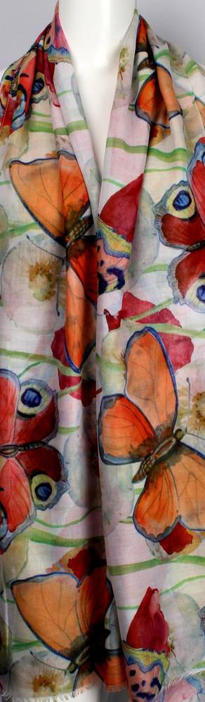 Alice & Lily printed scarf Butterfly multi   Style: SC/4473/Ltd. Ed.