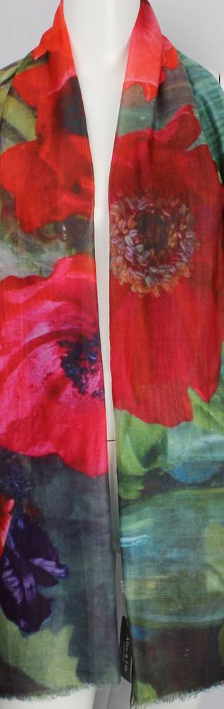 Alice & Lily printed scarf poppy Style: SC/4475/Ltd. Ed.