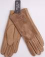 Winter ladies thermal lined glove w fur pompom camel Style; S/LK4611/CAM
