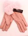 Winter ladies thermal  glove w fur cuff pink Style; S/LK4614/PINK