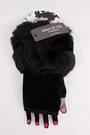 Winter ladies faux fingerless faux fur glove black Style; S/LK4616