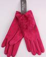 Winter ladies thermal glove w fur trim fushia Style; S/LK4618FUSHIA