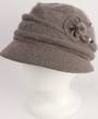 Headstart angora cloche w fur flower and pearl beads mocha  Style : HS/4626
