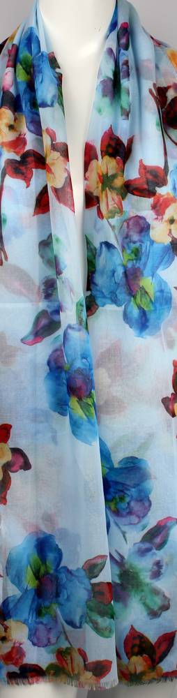 Alice & Lily printed  scarf floral blue Style:SC/4643BLU