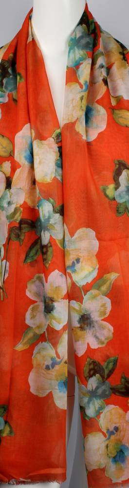 Alice & Lily printed  scarf floral orange Style:SC/4643ORA