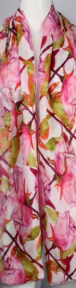 Alice & Lily printed  scarf  rose pink Style:SC/4653/PNK