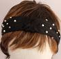 Fashion pearl bead headband black Style: HS/4668/BLK