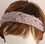 Fashion pearl bead headband grey Style: HS/4668/GRY