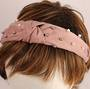 Fashion pearl bead headband pink Style: HS/4668/PNK