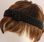 Fashion pearl bead knotted headband black Style: HS/4669/BLK