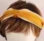 Fashion straw satin headband mustard Style: HS/4670/MUS