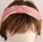 Fashion straw satin headband pink Style: HS/4670/PIN