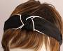 Fashion pearl bead knotted headband black Style: HS/4671/BLK