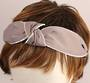 Fashion pearl bead knotted headband grey Style: HS/4671/GRY
